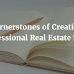 4 Cornerstones of Creating a Professional Real Estate Book